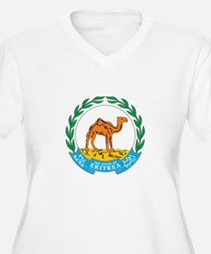 ERITREA Womes Plus-Size V-Neck T-Shirt