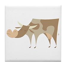 Snobby Cow Tile Coaster