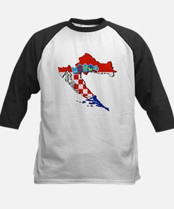 Croatia Map Kids Baseball Jersey