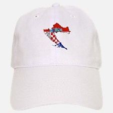 Croatia Map Baseball Baseball Cap