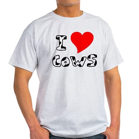 I Heart Cows Light T-Shirt