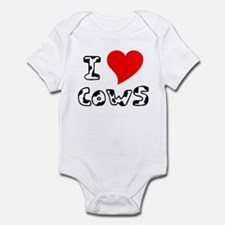 I Heart Cows Infant Bodysuit