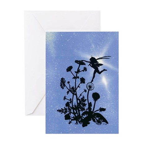 Fairy and Dandelion Greeting Card