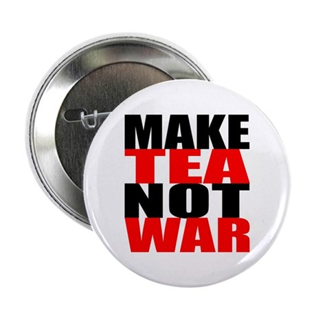 Make Tea Not War Button