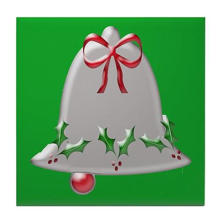 Christmas Bell (Green Back) - Tile Coaster