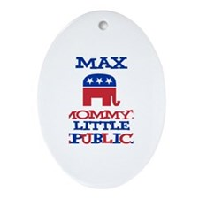 Max - Mommy's Republican Oval Ornament