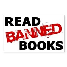 Read Banned Books Rectangle Decal
