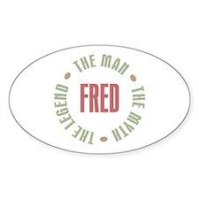 Fred Man Myth Legend Oval Decal