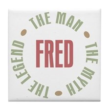 Fred Man Myth Legend Tile Coaster