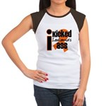 I Kicked Leukemia's Ass Women's Cap Sleeve T-Shirt