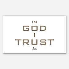 In God I Trust Rectangle Sticker 50 pk)
