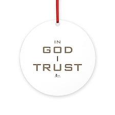 In God I Trust Ornament (Round)