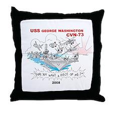 CVN-73 Throw Pillow