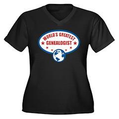 Worlds Greatest Genealogist Women's Plus Size V-Ne