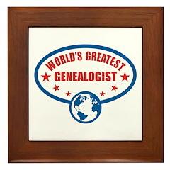 Worlds Greatest Genealogist Framed Tile