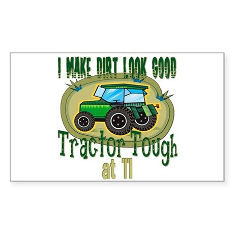 Tractor Tough 11th Rectangle Sticker