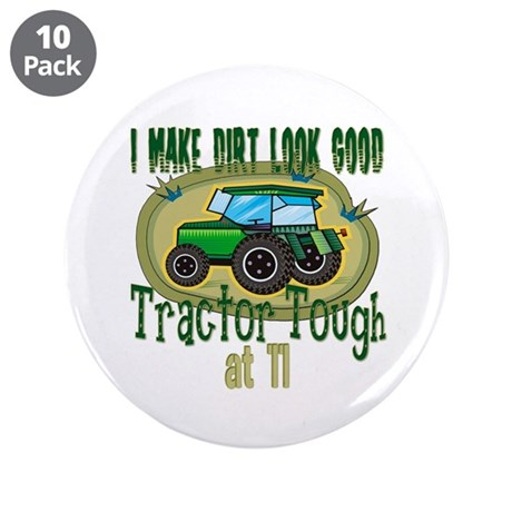 "Tractor Tough 11th 3.5"" Button (10 pack)"