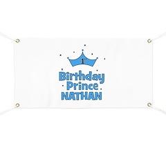 1st Birthday Prince Nathan! Banner