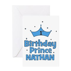 1st Birthday Prince Nathan! Greeting Card