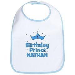 1st Birthday Prince Nathan! Bib