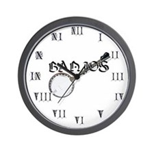 Joe's Banjos Wall Clock