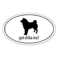 Got Shiba Inu? Oval Decal