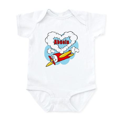 Love Abuela Cute Airplane Infant Bodysuit