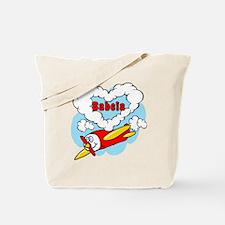 Love Babcia Cute Airplane Tote Bag