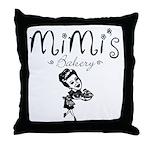 Mimi's Bakery Throw Pillow