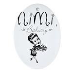 Mimi's Bakery Oval Ornament