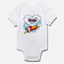 Love Gram Cute Airplane Infant Bodysuit