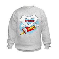Love Grammy Cute Airplane Sweatshirt
