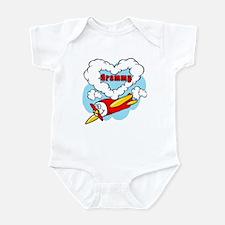Love Grammy Cute Airplane Infant Bodysuit