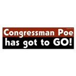 Congressman Poe has got to go bumper sticker