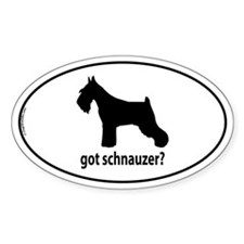 Got Schnauzer? Oval Decal