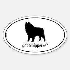 Got Schipperke? Oval Decal