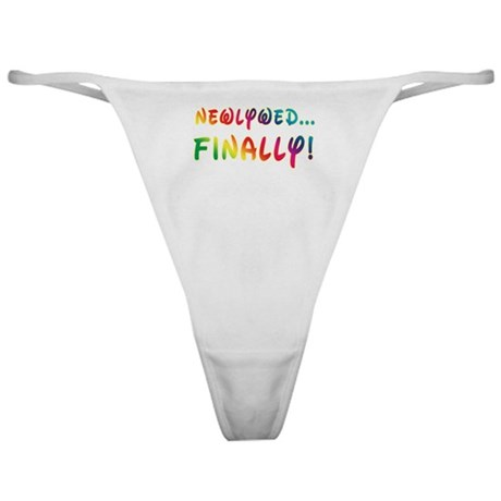 Newlywed Finally! Gay Marriage Classic Thong