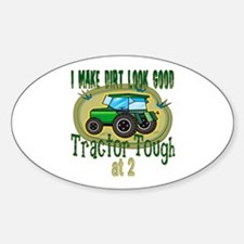 Tractor Tough 2nd Oval Decal