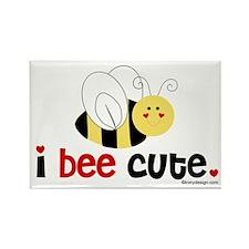 I Bee Cute Rectangle Magnet