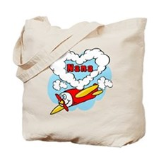 Love Nana Cute Airplane Tote Bag