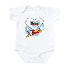 Love Nana Cute Airplane Infant Bodysuit