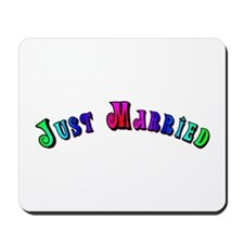 Rainbow Just Married Gay Mousepad