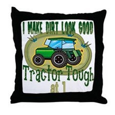 Tractor Tough 1st Throw Pillow