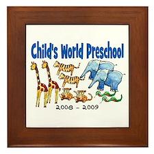 CHILDS WORLD PRESCHOOL Framed Tile