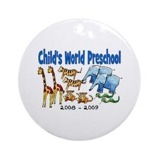 CHILDS WORLD PRESCHOOL Ornament (Round)
