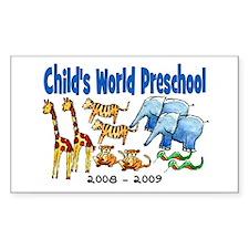CHILDS WORLD PRESCHOOL Rectangle Decal