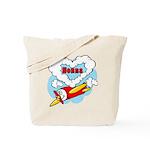 Love Nonna Cute Airplane Tote Bag