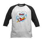 Love Nonna Cute Airplane Kids Baseball Jersey