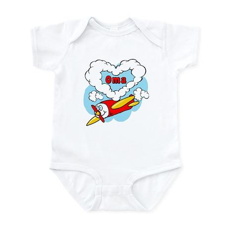 Love Oma Cute Airplane Infant Bodysuit