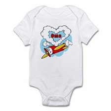 Love Oma Cute Airplane Infant Bodysuit